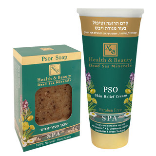 Psoriasis Set - Pso Skin Relief Cream + Psor Soap