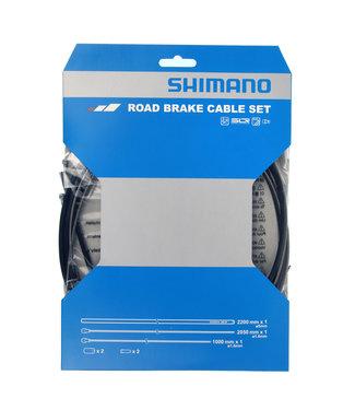 Shimano Shimano Remkabelset RVS Zwart Race