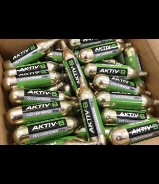 Aktiv8 10x Aktiv-8 Co2 patronen 25 Grams met draad