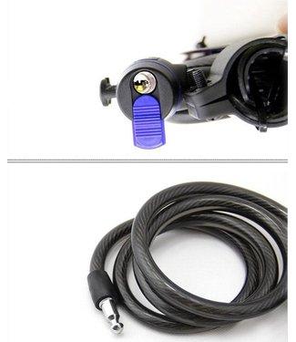 Makes Easy Fietsslot | Ketting Fietsslot | Anti-Diefstal | Kabelslot |12mm x 120cm | Zwart