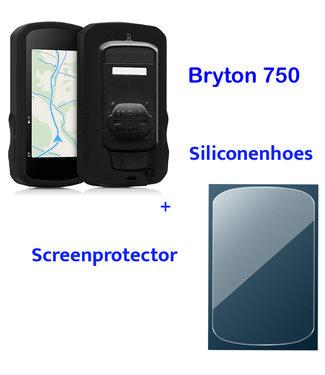 Makes Easy Siliconenhoes + Screenprotector geschikt voor Bryton Rider 750
