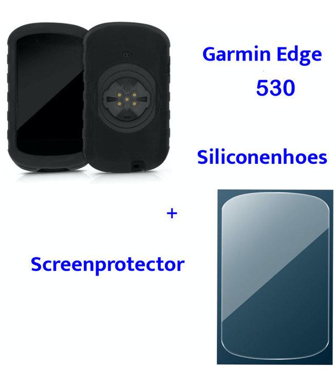 Makes Easy Siliconenhoes + Screenprotector geschikt voor Garmin Edge 530