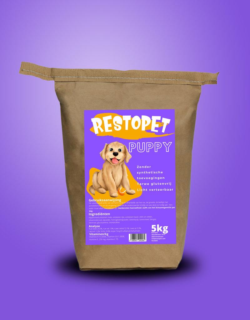 Restopet Puppy tarwe glutenvrij (licht verteerbaar) 15kg