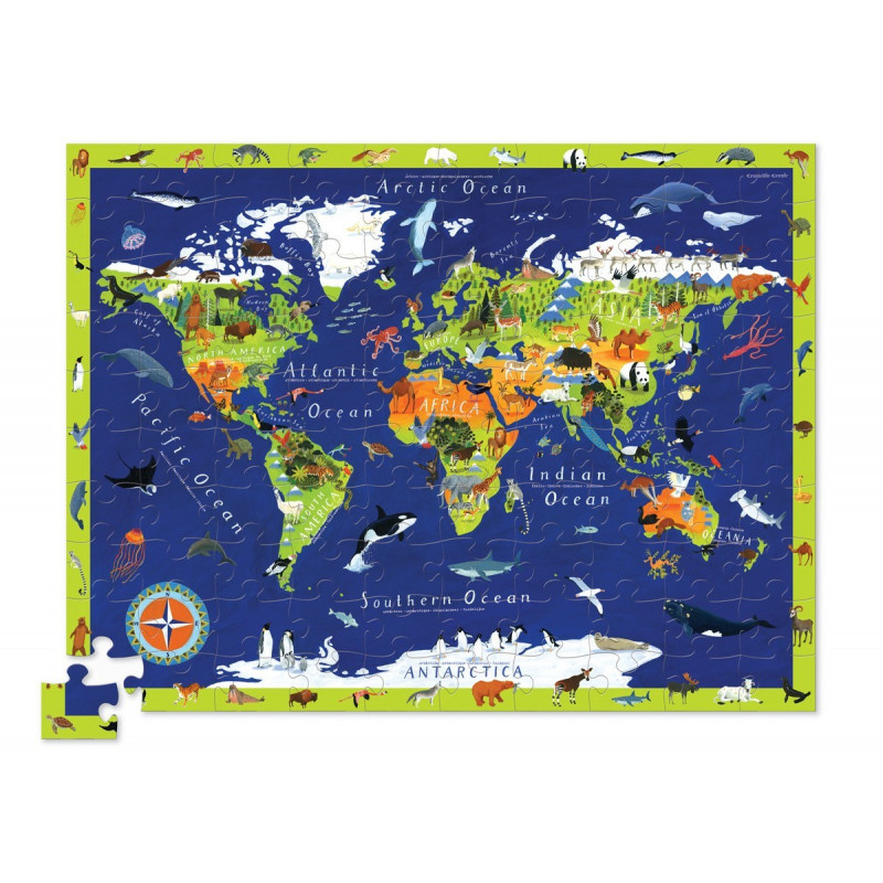 Giant Puzzel Discover World Animals(100-delig)