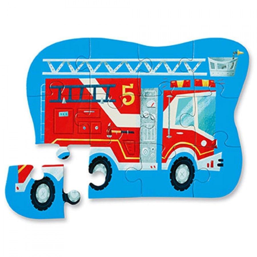 Mini Puzzel  Fire truck (12-delig)