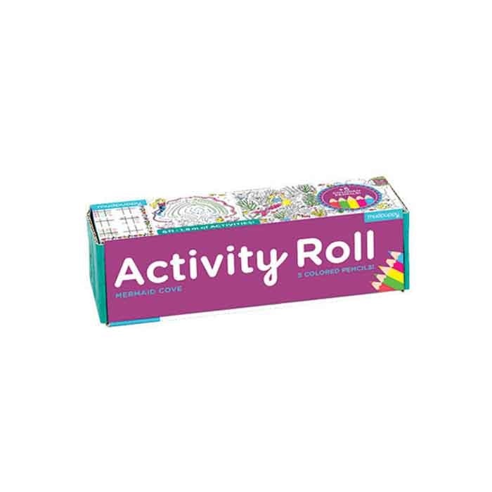 Mudpuppy Activity Coloring Roll Mermaid Cove