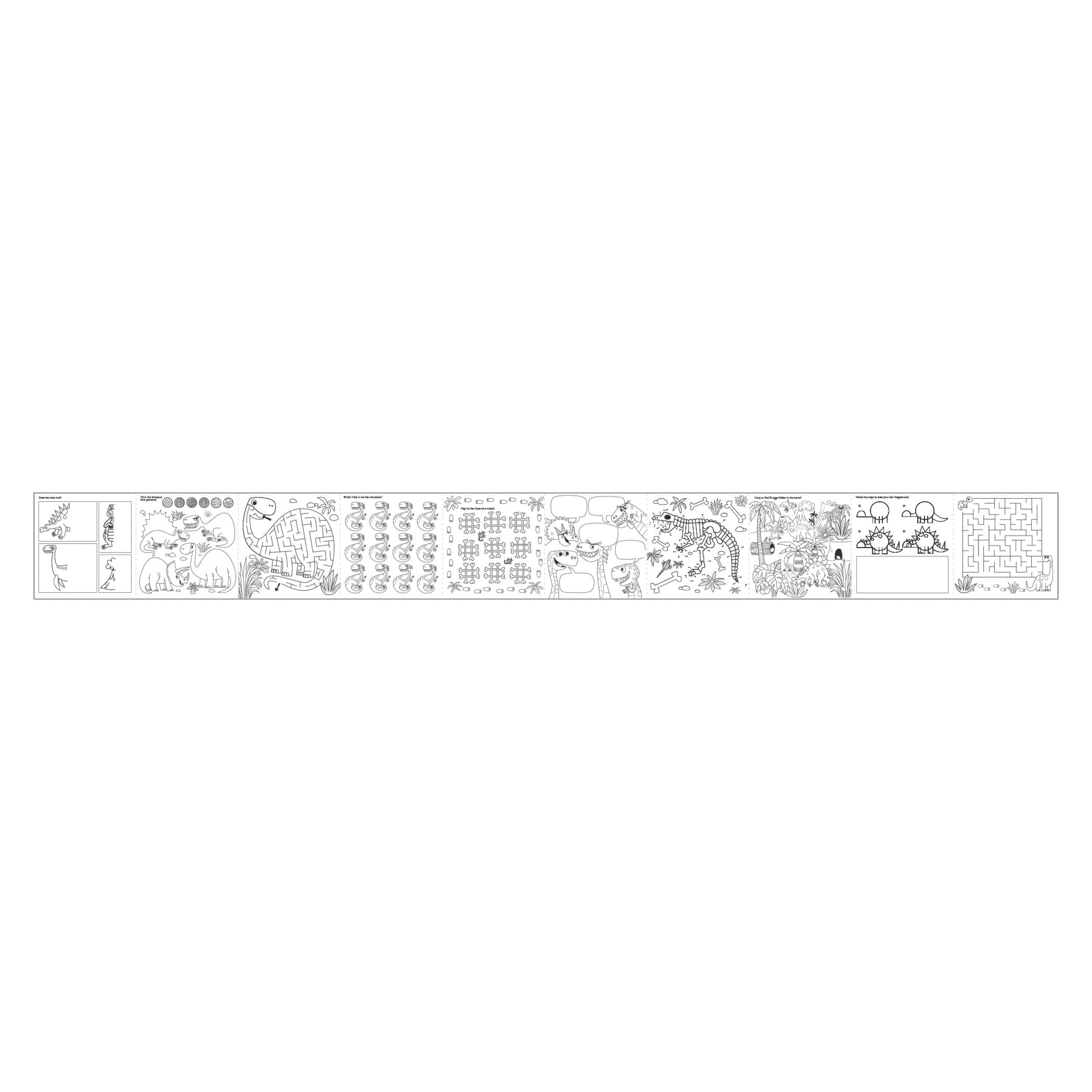 Mudpuppy Activity Coloring Roll Mighty Dinosaurs