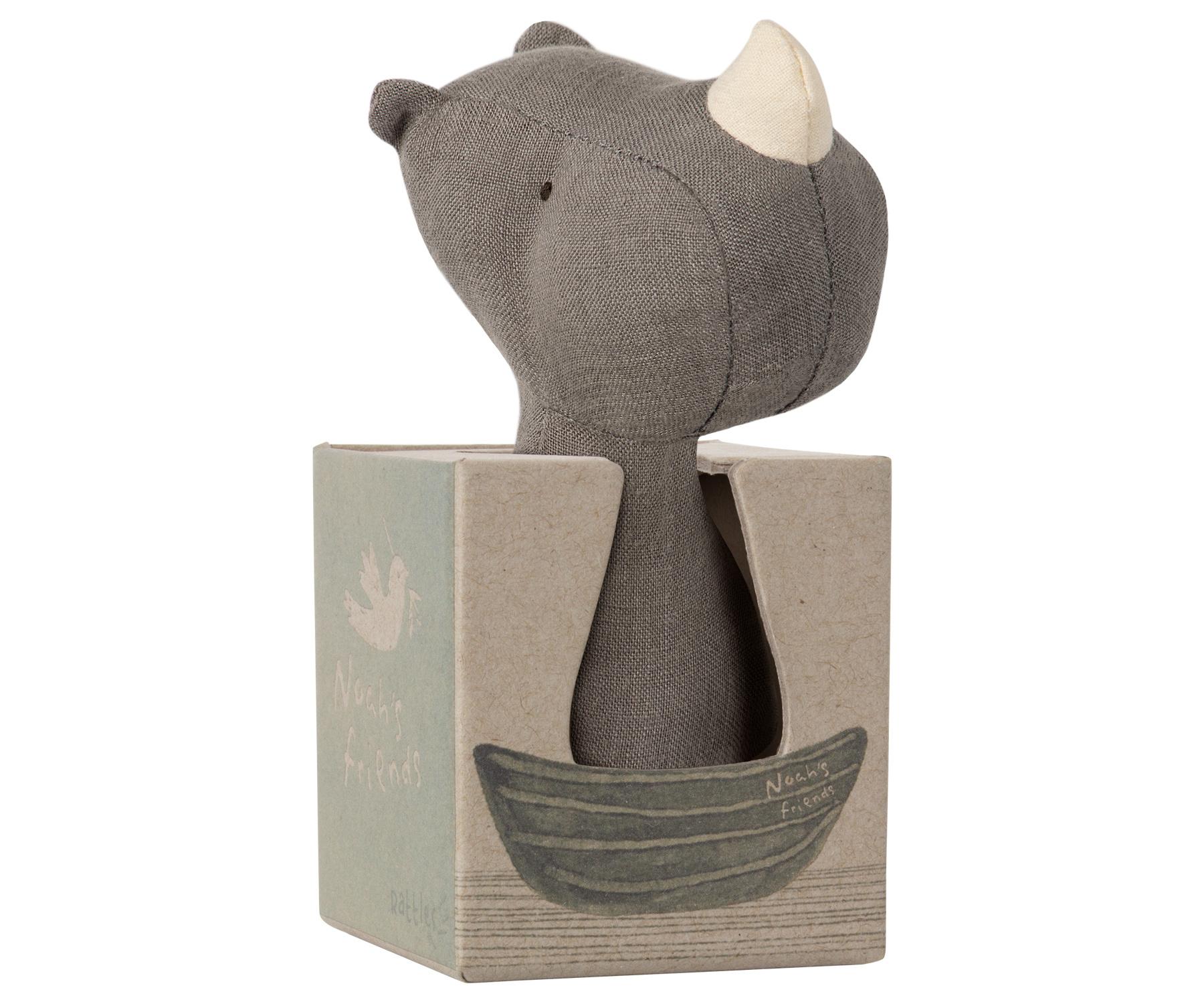 Maileg Noah's Friends, Rhino Rattle