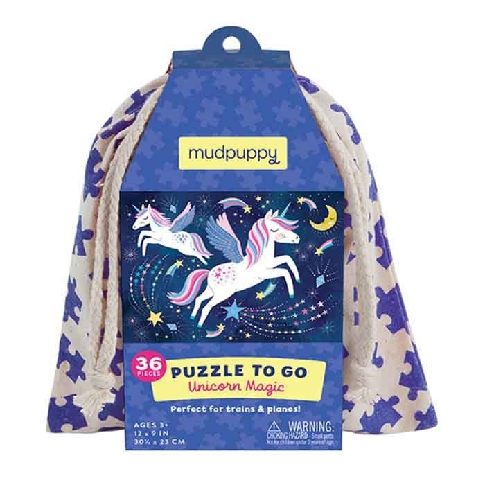 Mudpuppy Puzzel To Go - Unicorn Magic (36-delig)