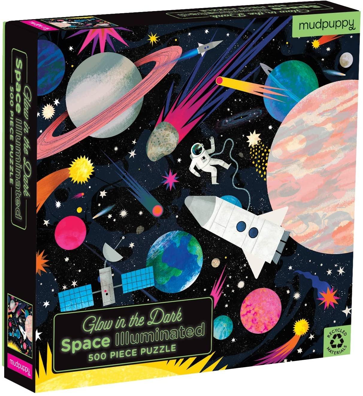 Mudpuppy Glow In The Dark Puzzel Space (500-delig)