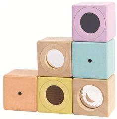 Plan Toys Sensory Blokken Pastel