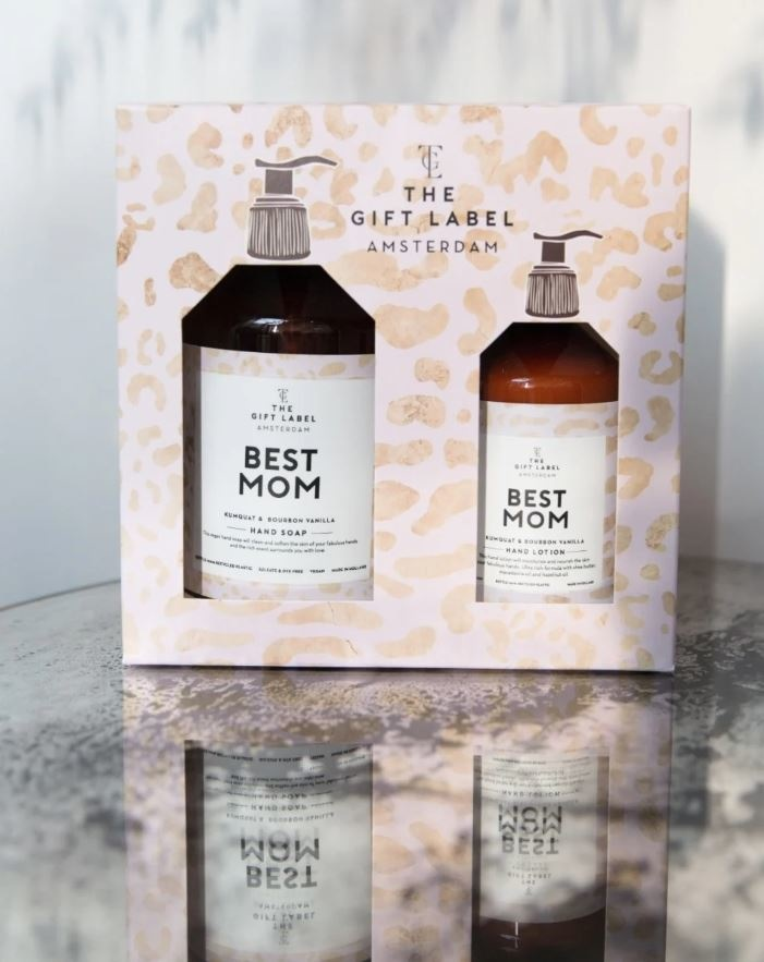 The Gift Label Hand Soap & Lotion Gift Set - BEST MOM