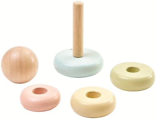 Plan Toys Eerste Houten Stapeltoren Pastel