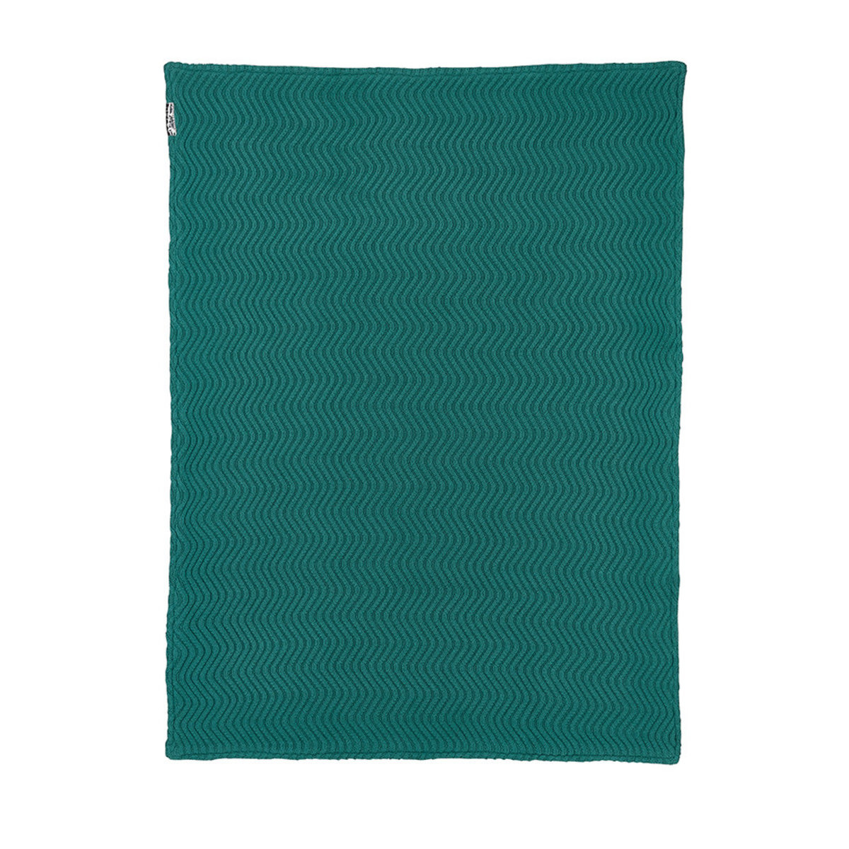 Meyco Ledikantdeken Velvet The Waves 100x150 cm Emerald Green