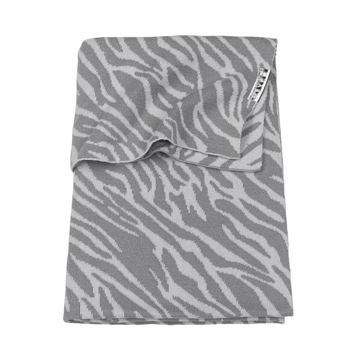 Meyco Wiegdeken Zebra 75x100 cm Grijs