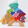 Grimm's  Set Regenboog Blokkenpuzzel Leeuw