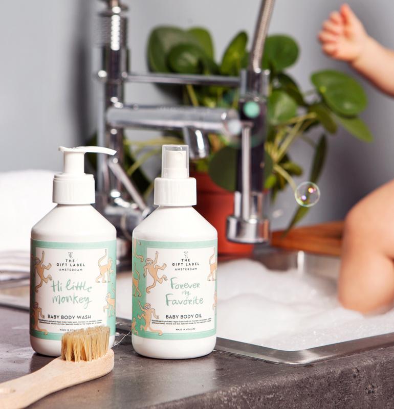 The Gift Label Baby Body Wash Hi Little Monkey