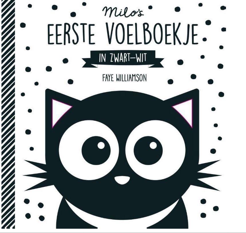 Milo's Eerste Voelboekje Zwart Wit
