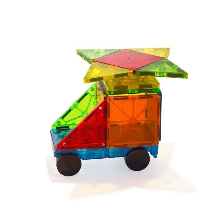 Magna-Tiles - Clear Colors Cars Expansion Set