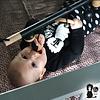 Bo and the Baboon Babytrapeze 'Little Baboon' - Hout/Zwart