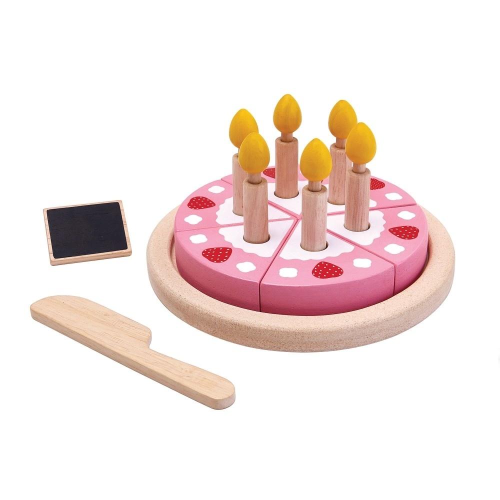 Plan Toys Houten Set - Verjaardagstaart