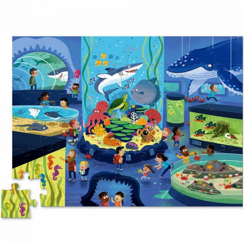 Crocodile Creek Puzzel Day at the Museum - Aquarium (48-delig)