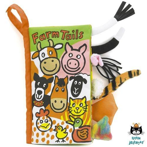 JellyCat Staartenboek - Farm Tails Book | 0+