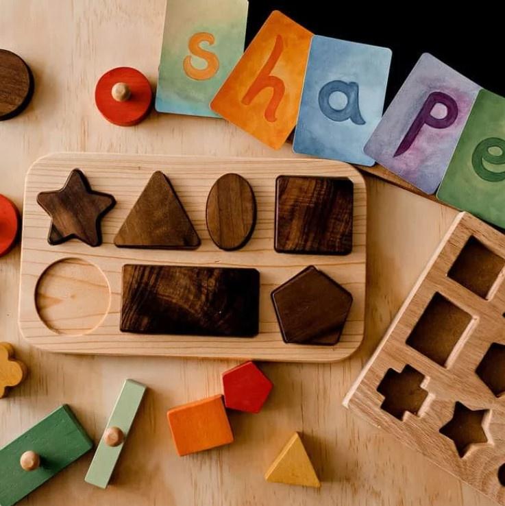 Oyuncak House - Geometrische Vormen Puzzel (7-delig) | 1+