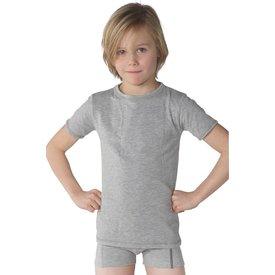 T-shirt ronde hals grijs melange