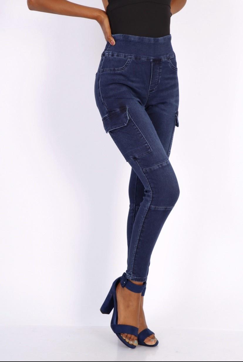 Onwijs Broek Toxik3 hoge taille cargo jeans - Infinity Fashion WL-59