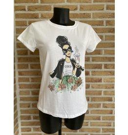 T Shirt Dame Coco Terra Di Sienna