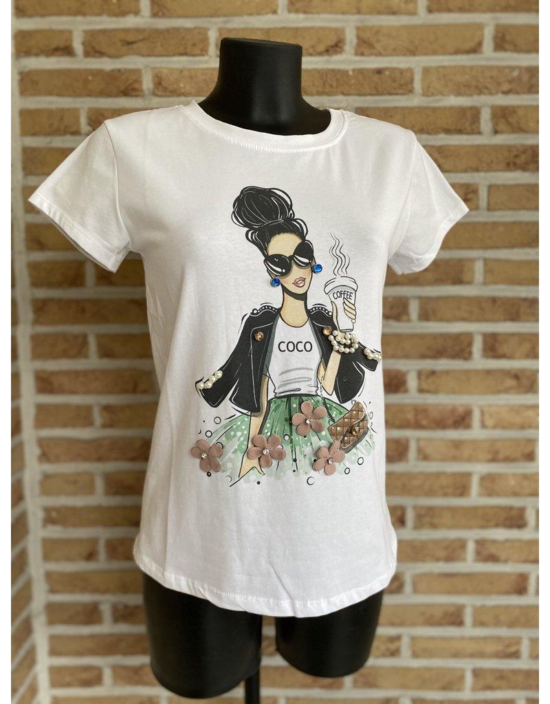 Terra di Siena T Shirt Dame Coco Terra Di Siena