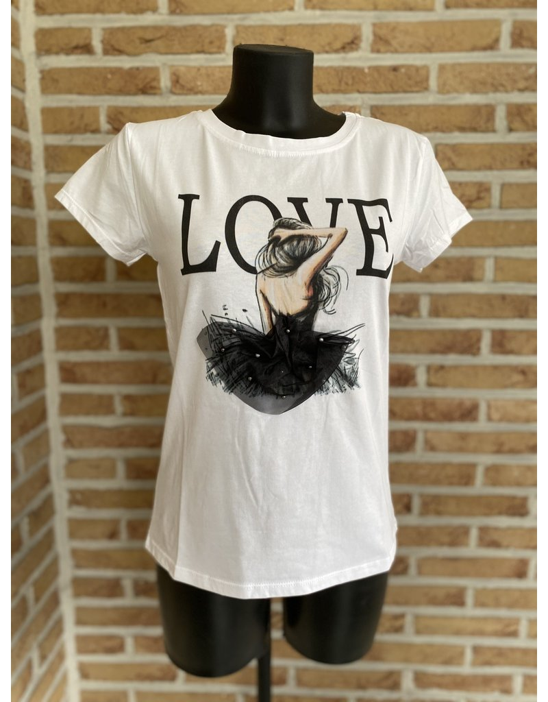 Terra di Siena T Shirt Love rokje Terra Di Siena