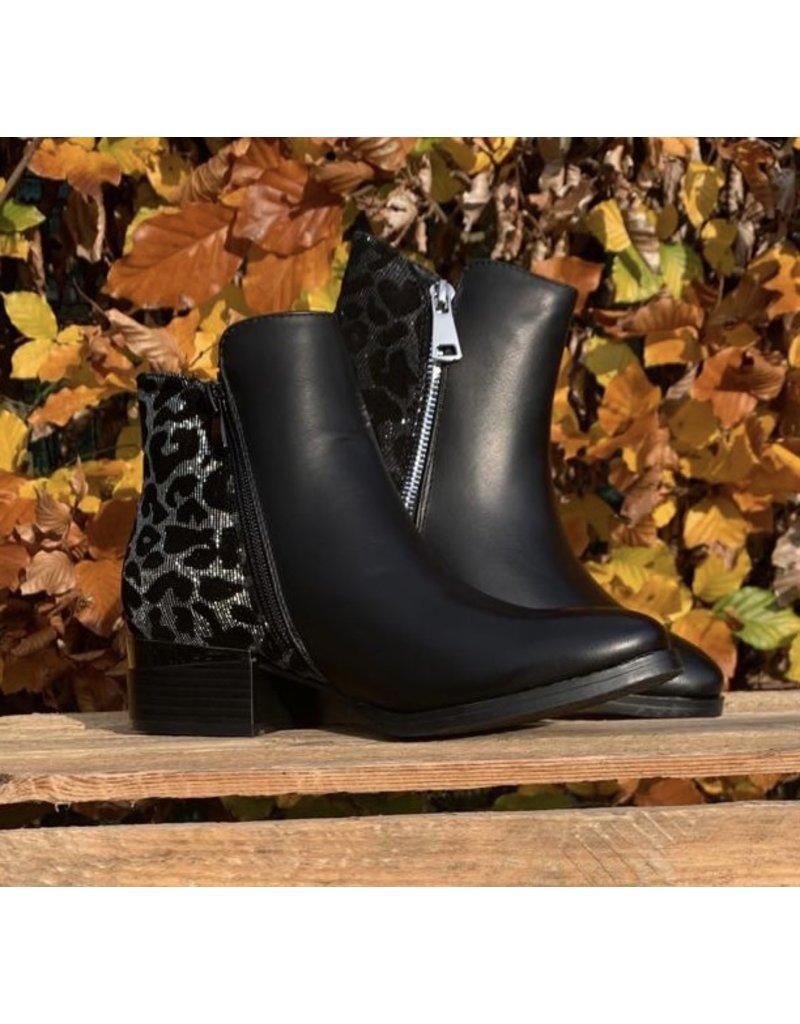 Schoen enkel Luipaard zilver