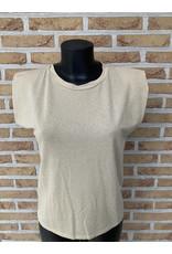 T shirt Glitter zonder mouw Terra Di Siena