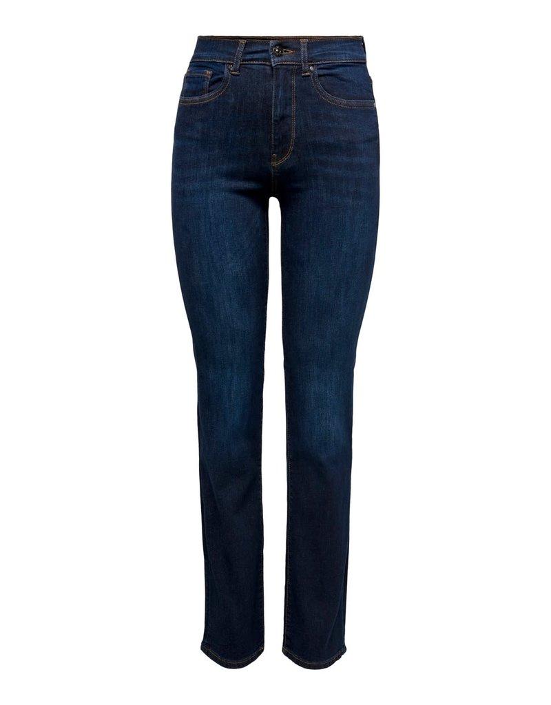 Broek Jeans Nahla HW Straight Only blauw