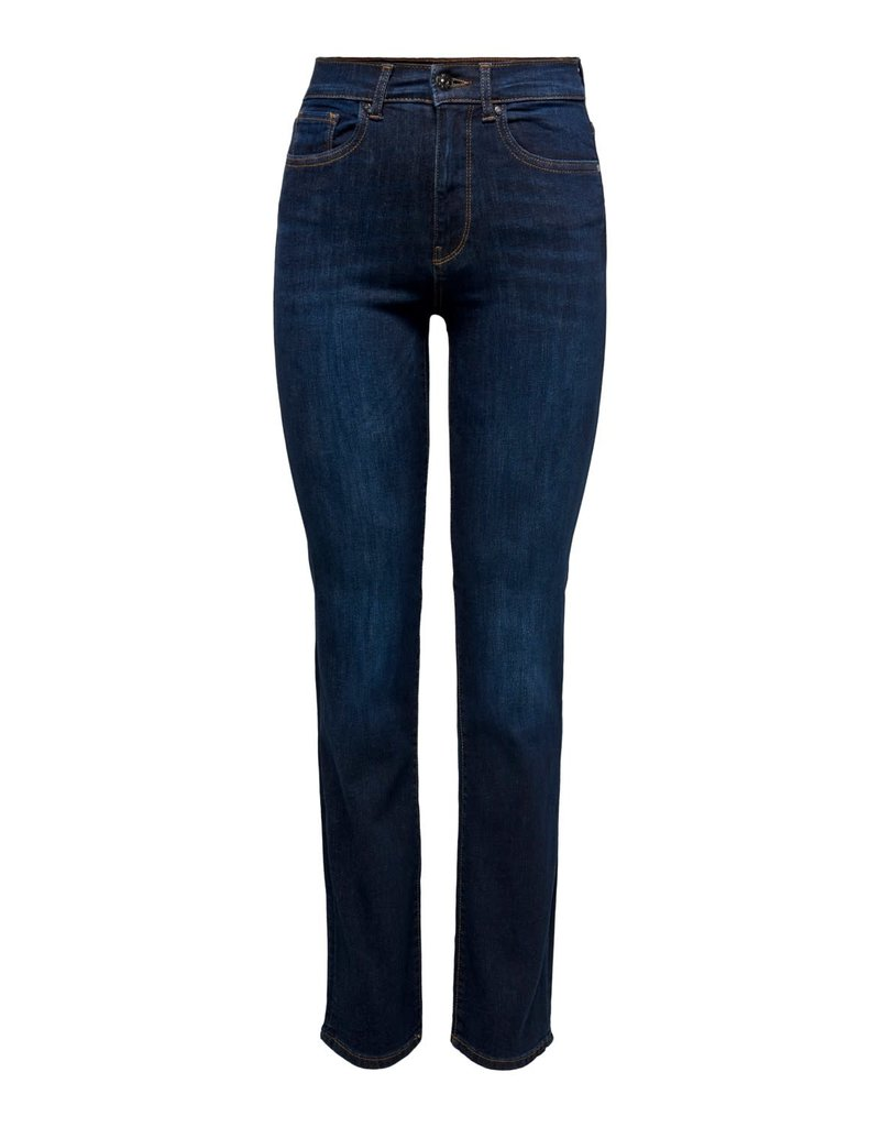 Only Broek Jeans Nahla HW Straight Only blauw