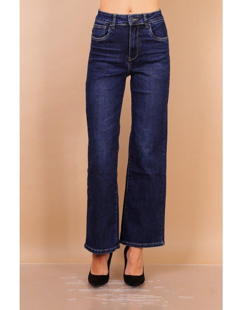 Toxik3 Broek Toxik3 Flair brede pijp jeans L20009