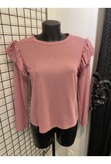 T shirt Glitter Lange mouw Terra Di Siena