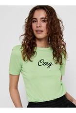 T shirt ELLA Only Groen OMG