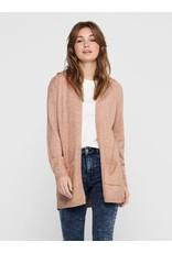 Vest Lesly Hood cardigan Only Misty Rosé