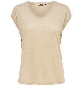 T shirt lurex Silvery Only Gold