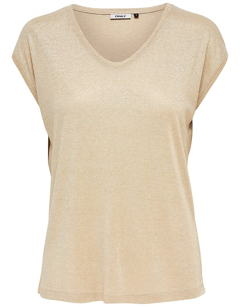 Only T shirt lurex Silvery Only Gold