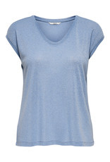 T shirt lurex Silvery Only Halogen blue (NOOS)
