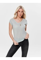 Only T shirt lurex Silvery Only Morning Mist (NOOS)