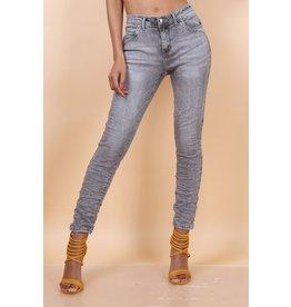 Toxik3 Broek Toxik3 Hoge Tai Grijze jeans