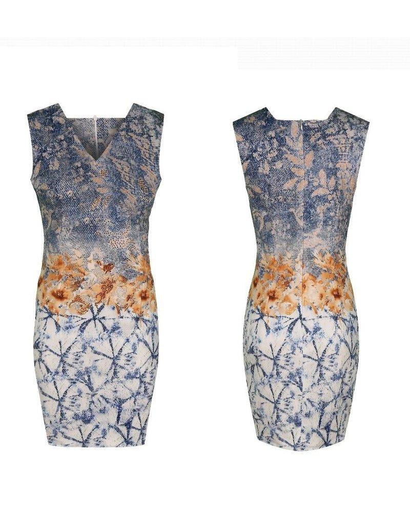 Kleedje Missy Bloemen blauw T-6513-64174