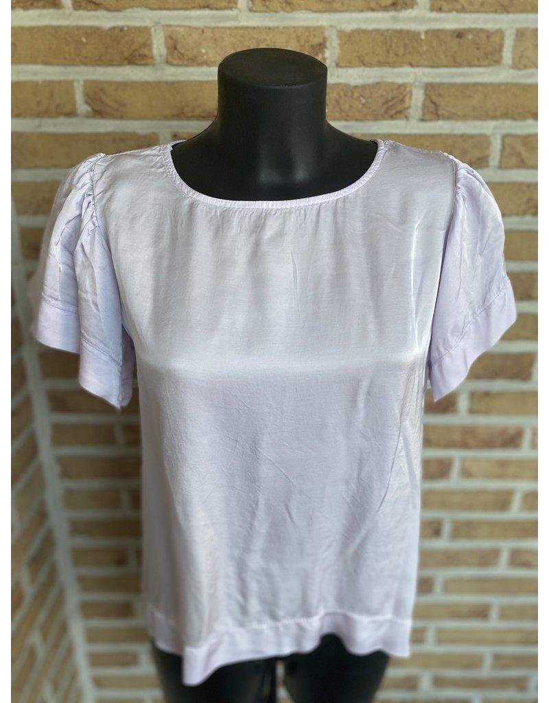 T Shirt satijn effen Terra Di Sienna