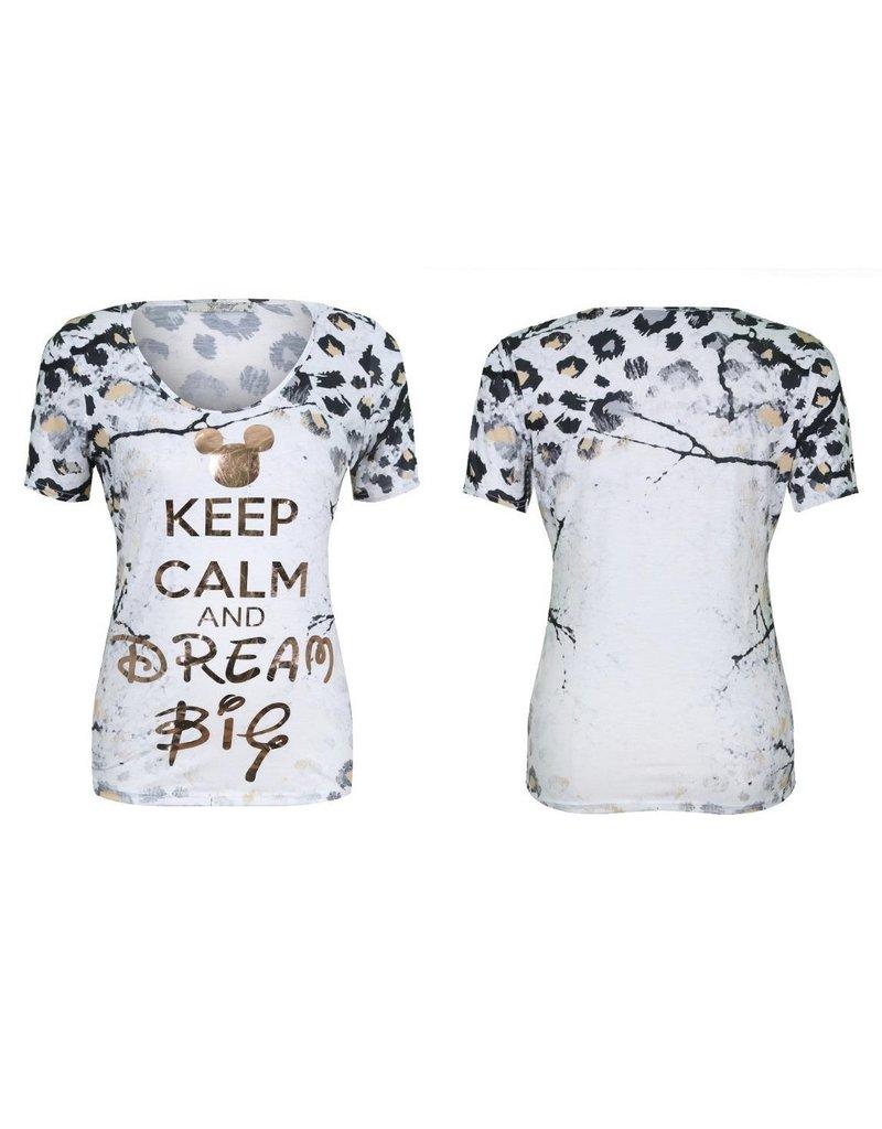T-Shirt Missy Mickey Dream big T-7168-64629D