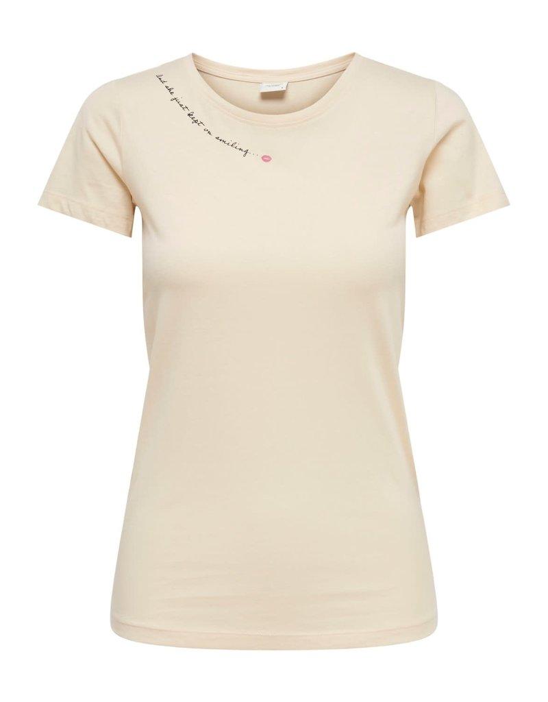 T-Shirt Chicago Jacqueline de Yong  Love Ecru
